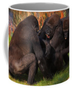 Gorillas Having Fun Together  Coffee Mug