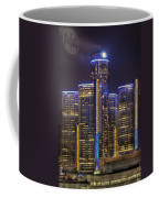 Gotham Detroit Coffee Mug by Nicholas  Grunas