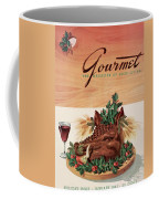 Gourmet Cover Featuring A Boar's Head Coffee Mug