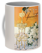 Gourmet Cover Featuring A Pyramid Of Champagne Coffee Mug