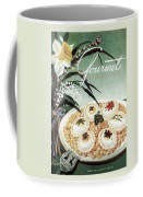 Gourmet Cover Featuring Poached Eggs On Cubed Coffee Mug