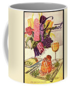 Gourmet Cover Featuring Sweetbread And Asparagus Coffee Mug