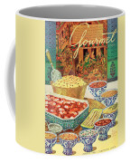Gourmet Cover Featuring Various Indian Dishes Coffee Mug