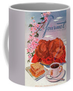 Gourmet Cover Illustration Of A Basket Of Popovers Coffee Mug