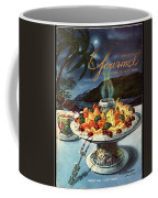 Gourmet Cover Illustration Of Fruit Dish Coffee Mug