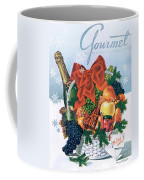Gourmet Cover Illustration Of Holiday Fruit Basket Coffee Mug