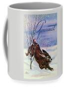 Gourmet Cover Of A Rabbit On Snow Coffee Mug