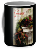 Gourmet Magazine Cover Featuring Christmas Garland Coffee Mug