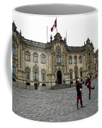 Government Palace Guards In Lima Coffee Mug