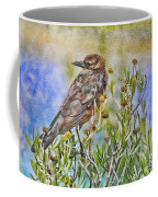 Grackle In Flowers Coffee Mug