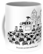 Graduation Speaker Addressing Graduates Seated Coffee Mug