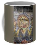 Graffiti Covered Cement Wall Coffee Mug