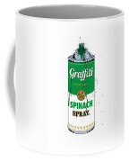 Graffiti Spinach Spray Can Coffee Mug