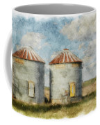 Grain Silos - Digital Paint Coffee Mug