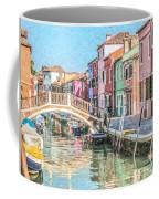 Grand Canal Burano  Venice Coffee Mug