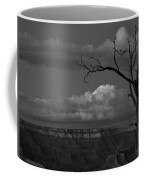 Grand Canyon In Black And White Coffee Mug