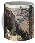 Grand Canyon View Weathered Tree Right Side  Coffee Mug
