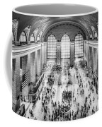 Grand Central Terminal Birds Eye View I Bw Coffee Mug
