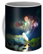 Grand Finale Over The Lake Coffee Mug