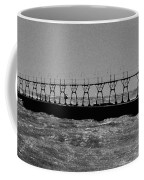Grand Haven Light In Black And White Coffee Mug