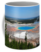 Grand Prismatic Spring From Above Coffee Mug
