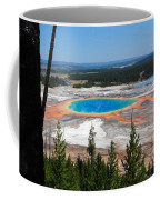 Grand Prismatic Spring From Hillside Coffee Mug