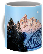 Grand Teton National Park Moonset Coffee Mug