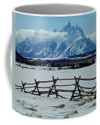 1m9306-grand Tetons From Ranch Country Coffee Mug