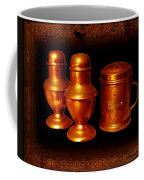 Grandma's Kitchen-copper Salt Pepper  And Flour Shakers Coffee Mug