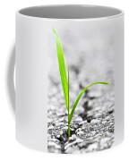 Grass In Asphalt Coffee Mug