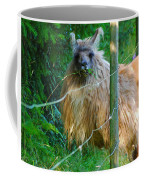 Grass Is Always Greener - Llama Coffee Mug by Jordan Blackstone