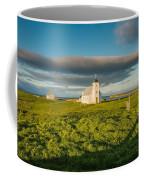 Grasslands And Flatey Church, Flatey Coffee Mug
