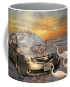 Grateful Friends Curious Egrets Coffee Mug by Betsy Knapp
