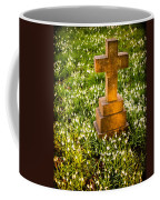Gravestone With Snowdrops Coffee Mug