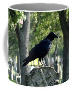 Graveyard Bird On Top Of A Tombstone Coffee Mug