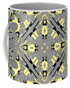 Gray And Yellow No. 1 Coffee Mug