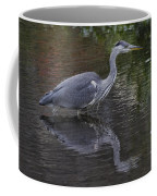 Gray Heron And Reflection Coffee Mug