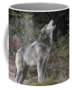 Gray Wolf Howling Endangered Species Wildlife Rescue Coffee Mug