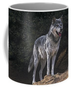 Gray Wolf On Hillside Endangered Species Wildlife Rescue Coffee Mug