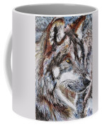 Gray Wolf Watches And Waits Coffee Mug by J McCombie