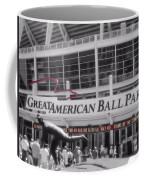 Great American Ball Park And The Cincinnati Reds Coffee Mug
