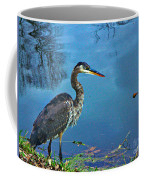 Great Blue Along The Canal Coffee Mug