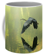 Great Blue Fly-by Coffee Mug