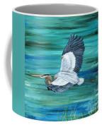 Great Blue Heron-3a Coffee Mug