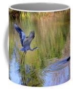 Great Blue Heron And Coot Coffee Mug
