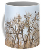 Great Blue Heron Colony Coffee Mug