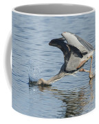 Great Blue Heron Fishing Coffee Mug