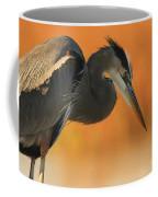 Great Blue Heron Focus Coffee Mug