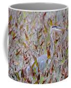 Great Blue Heron In Fall Marsh Coffee Mug