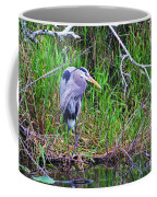 Great Blue Heron In Nature Coffee Mug